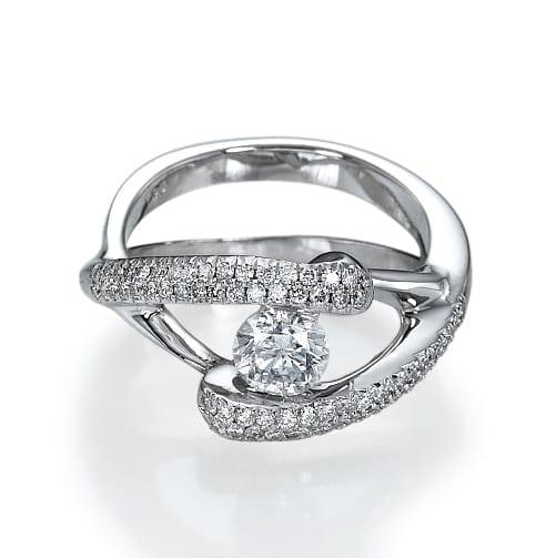 טבעת יהלומים דגם Anat