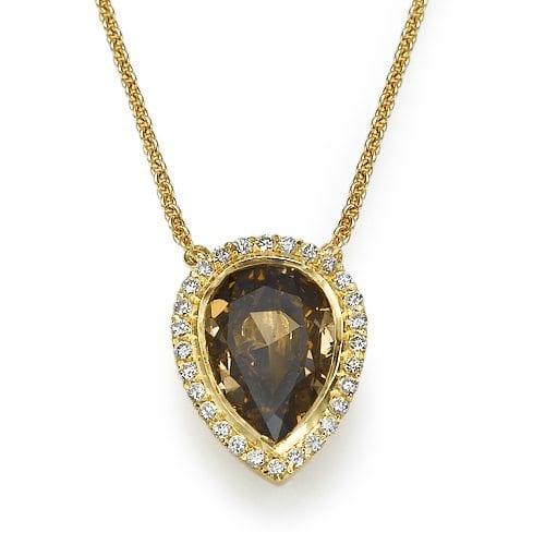 תליון יהלומים דגם Pear