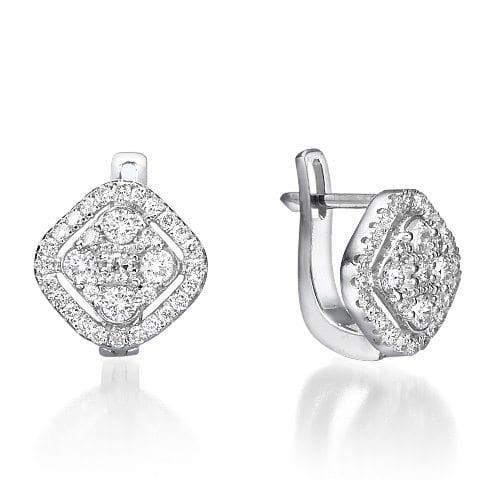 עגילי יהלומים דגם Kali