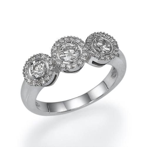 טבעת יהלומים דגם Zina