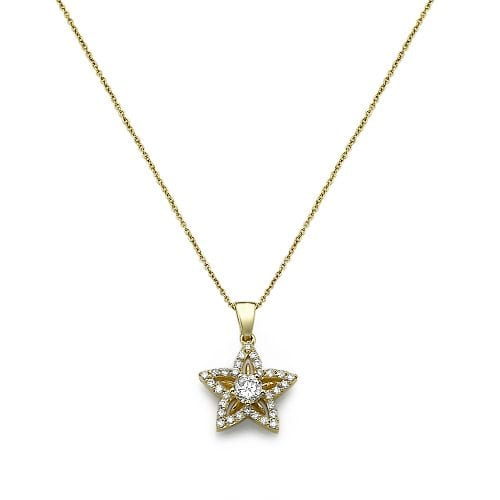 תליון יהלומים Flower
