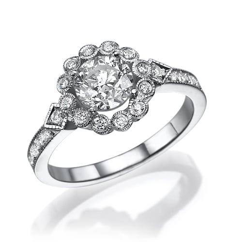 טבעת יהלומים דגם Robin