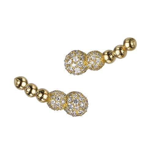 עגילי יהלומים דגם Sofya