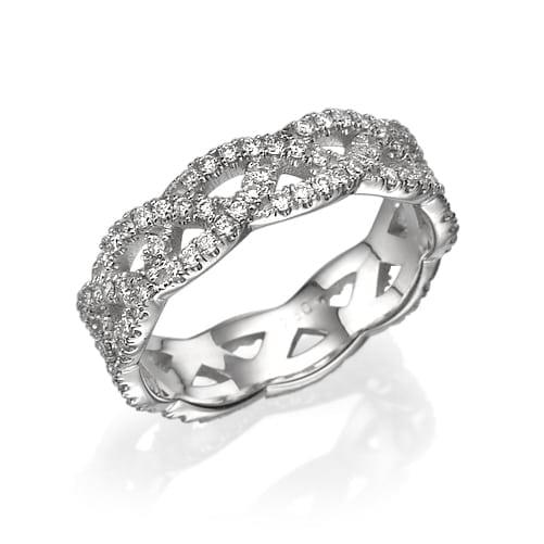 טבעת יהלומים דגם Hope