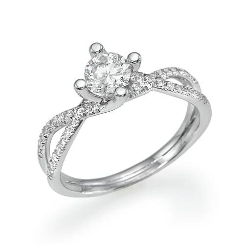 טבעת יהלומים דגם Charlotte