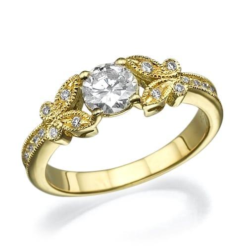 טבעת אירוסין דגם Butterfly
