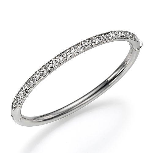 צמיד יהלומים קשיח