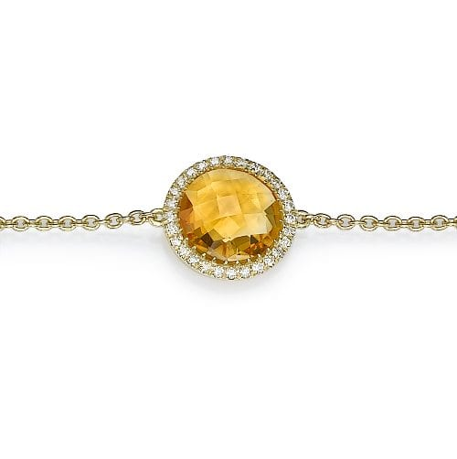 צמיד יהלומים ואבן חן סיטרין ב-30% הנחה!!!