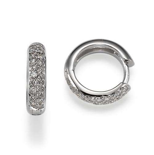 עגילי יהלומים דגם Zohar