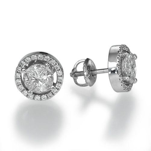 עגילי יהלומים דגם Minerva
