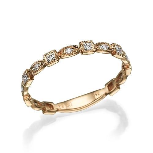 טבעת יהלומים דגם Sally