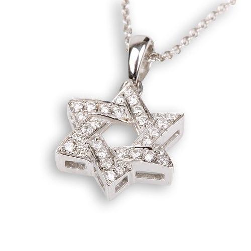 מגן דוד משובץ יהלומים