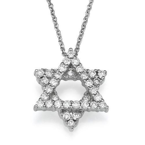 תליון מגן דוד משובץ יהלומים