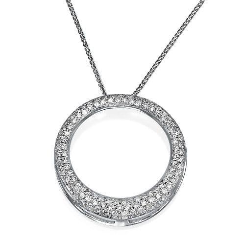 תליון מעגל משובץ יהלומים