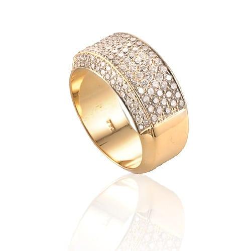 טבעת דגם Pave