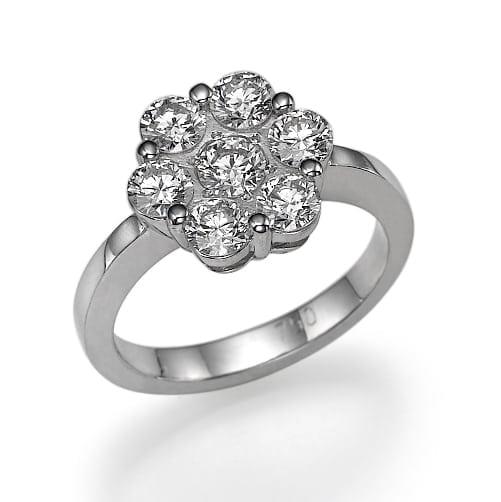 טבעת יהלומים דגם Rose