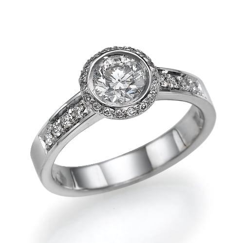 טבעת יהלומים דגם Edith