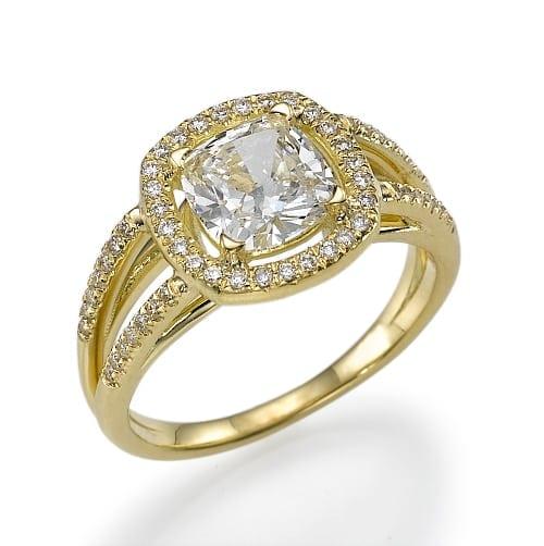 טבעת יהלומים דגם Smadar