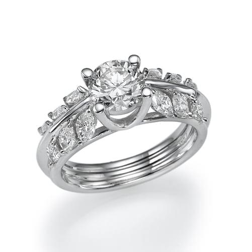 טבעת יהלומים מרהיבה דגם Kamila