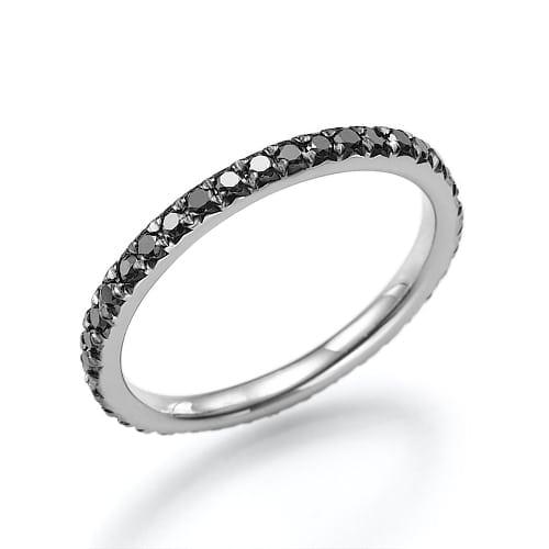 טבעת יהלומים שחורים דגם Mery