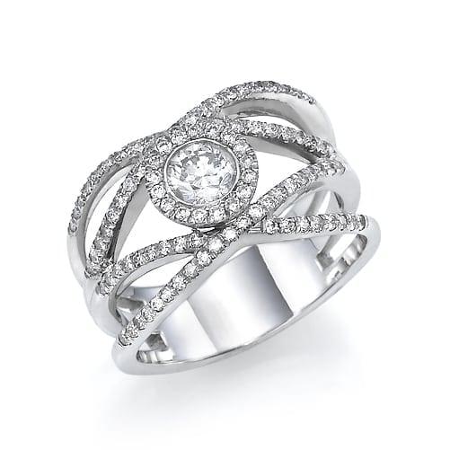 טבעת יהלומים דגם Ariel