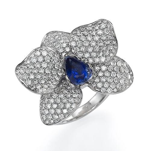 טבעת יהלומים דגם Orchidea