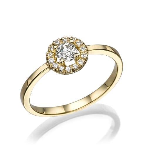 טבעת אירוסין דגם Queen