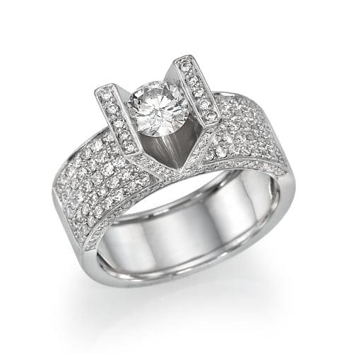 טבעת יהלומים דגם Lilach