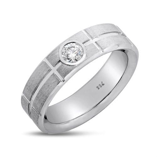 טבעת יהלומים לגבר דגם Ethan
