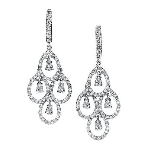 עגילי יהלומים דגם Thalia