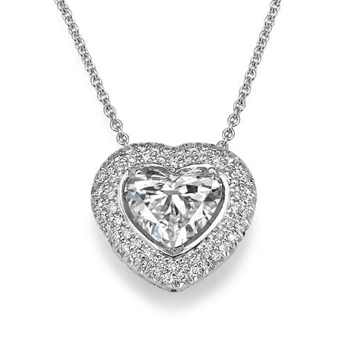 תליון יהלומים דגם Heart