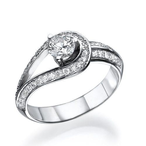 טבעת יהלומים דגם Carole