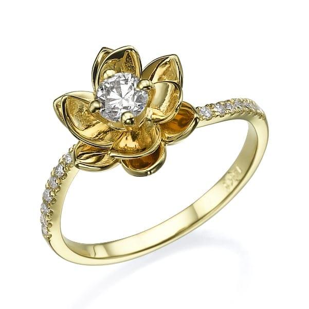 טבעת אירוסין דגם Flower