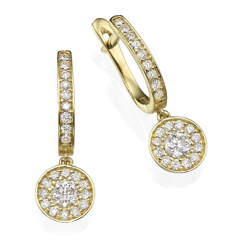 עגילי יהלומים דגם LIA