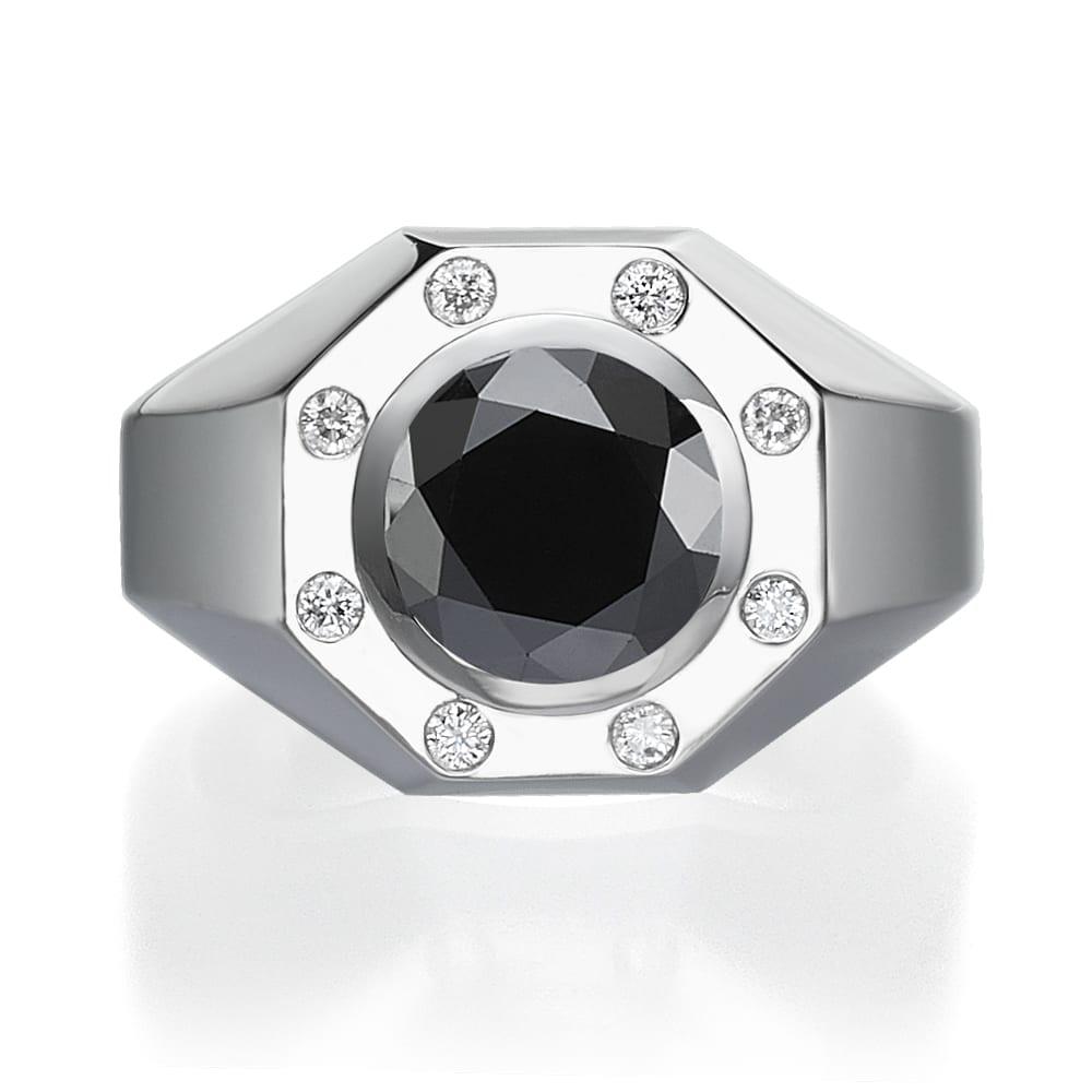 טבעת יהלומים לגבר דגם Jack