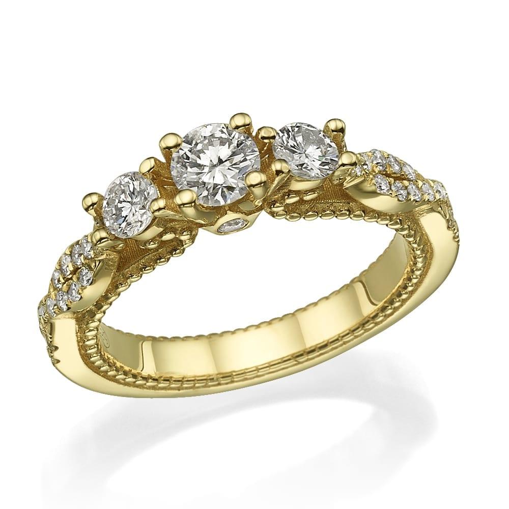 טבעת יהלומים דגם Nancy