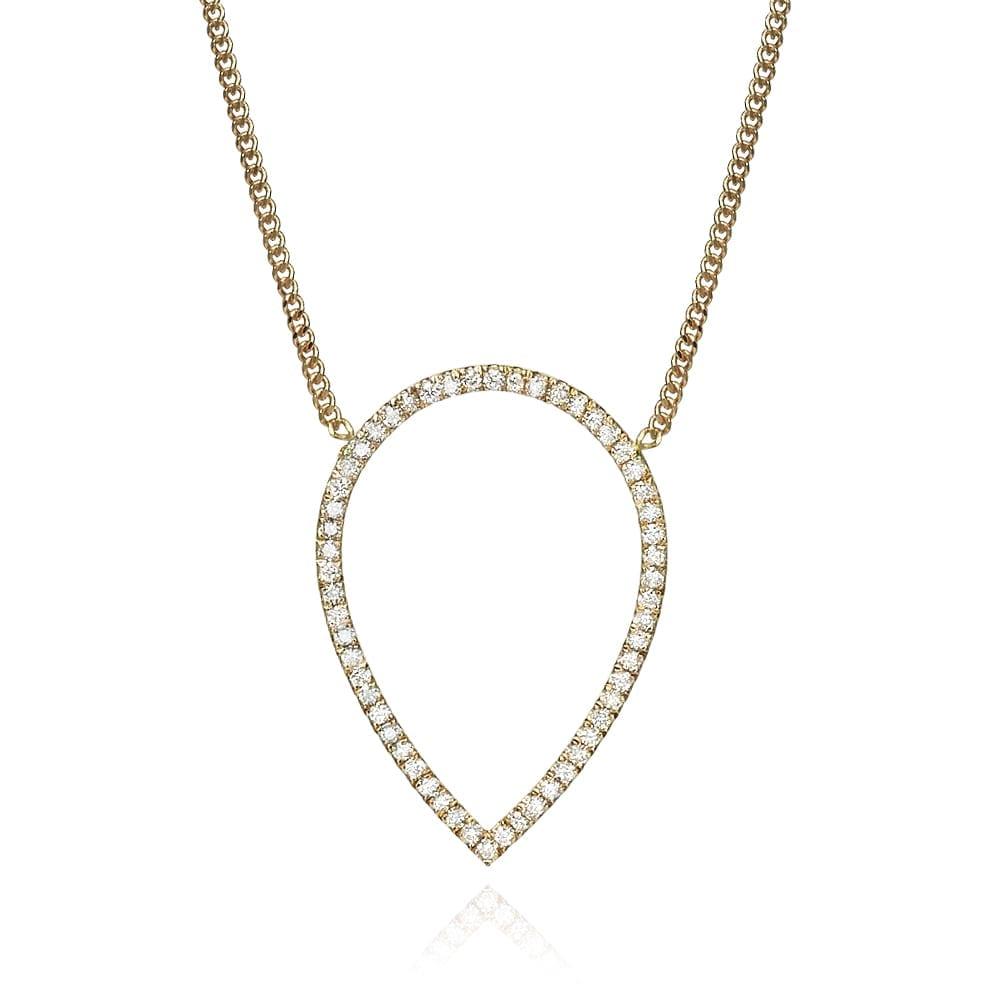 תליון יהלומים דגם Rose