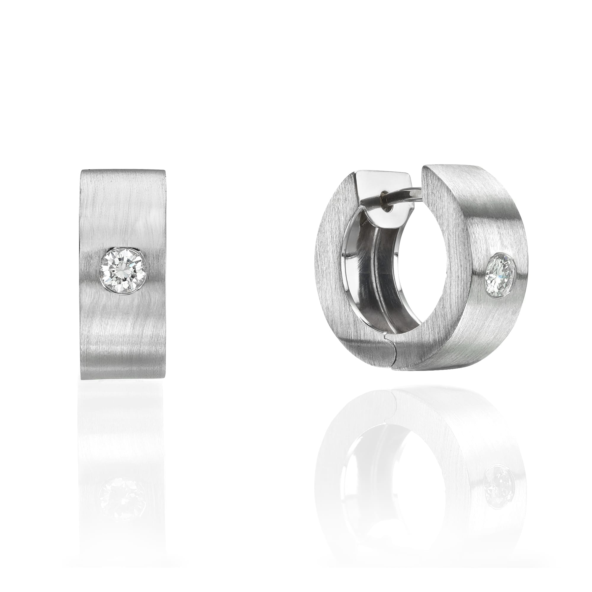 עגילי יהלומים דגם Ornella