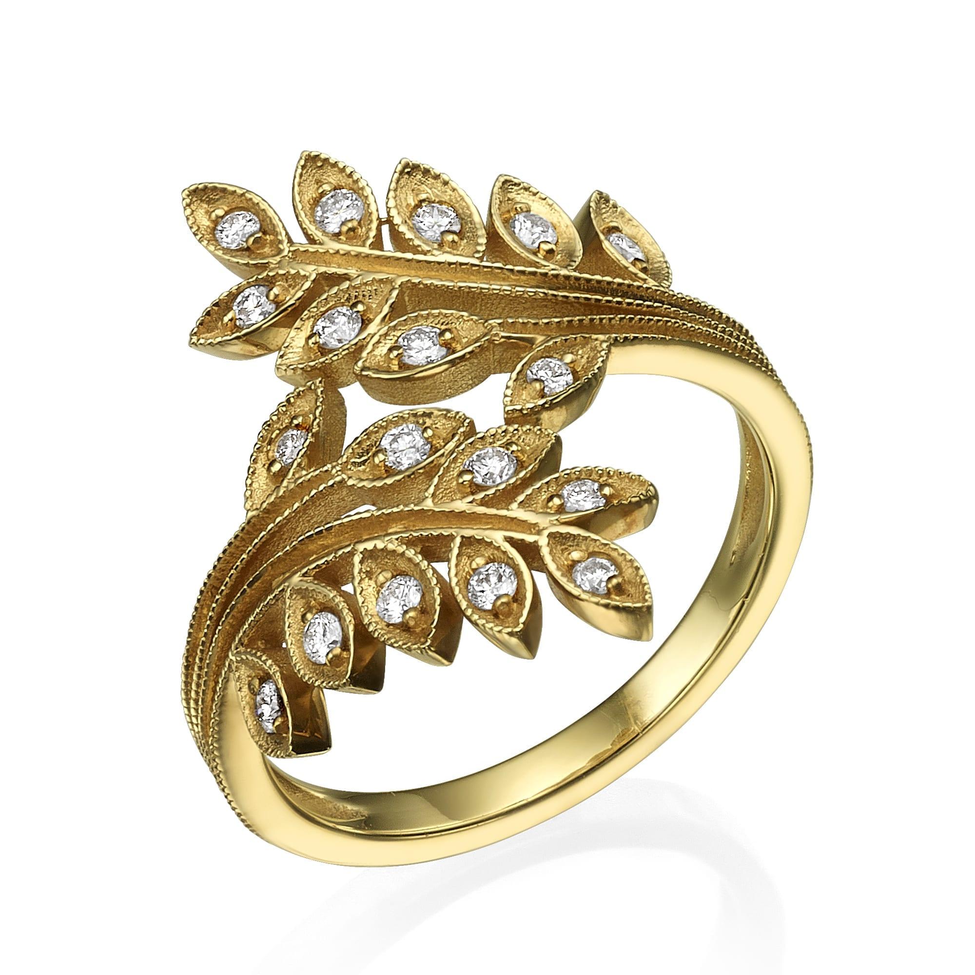 טבעת יהלומים דגם Ivy