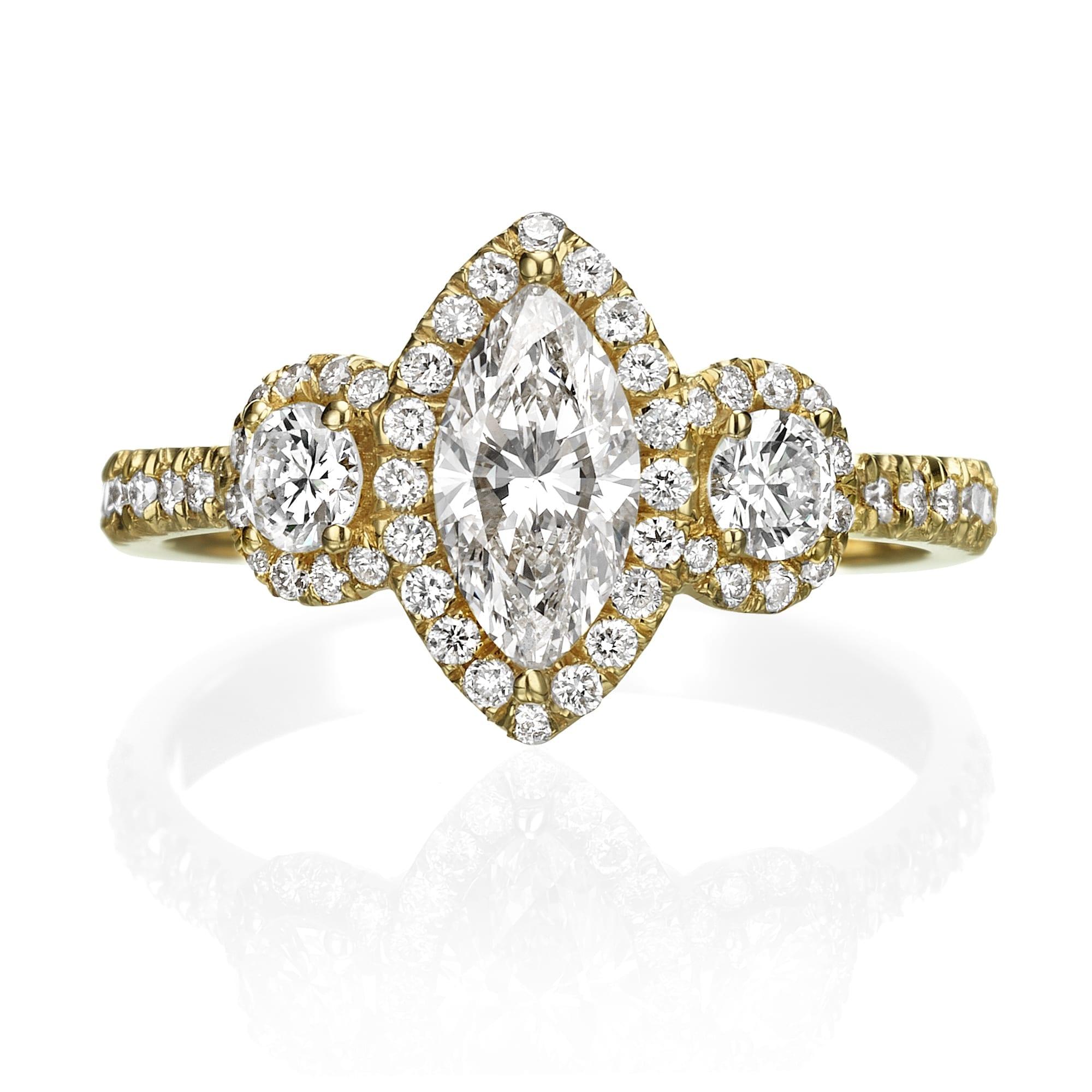 טבעת יהלומים דגם Shannon