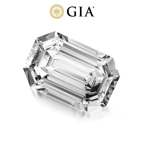 יהלום אמרלד במשקל 0.71 קראט F\VVS1 GIA