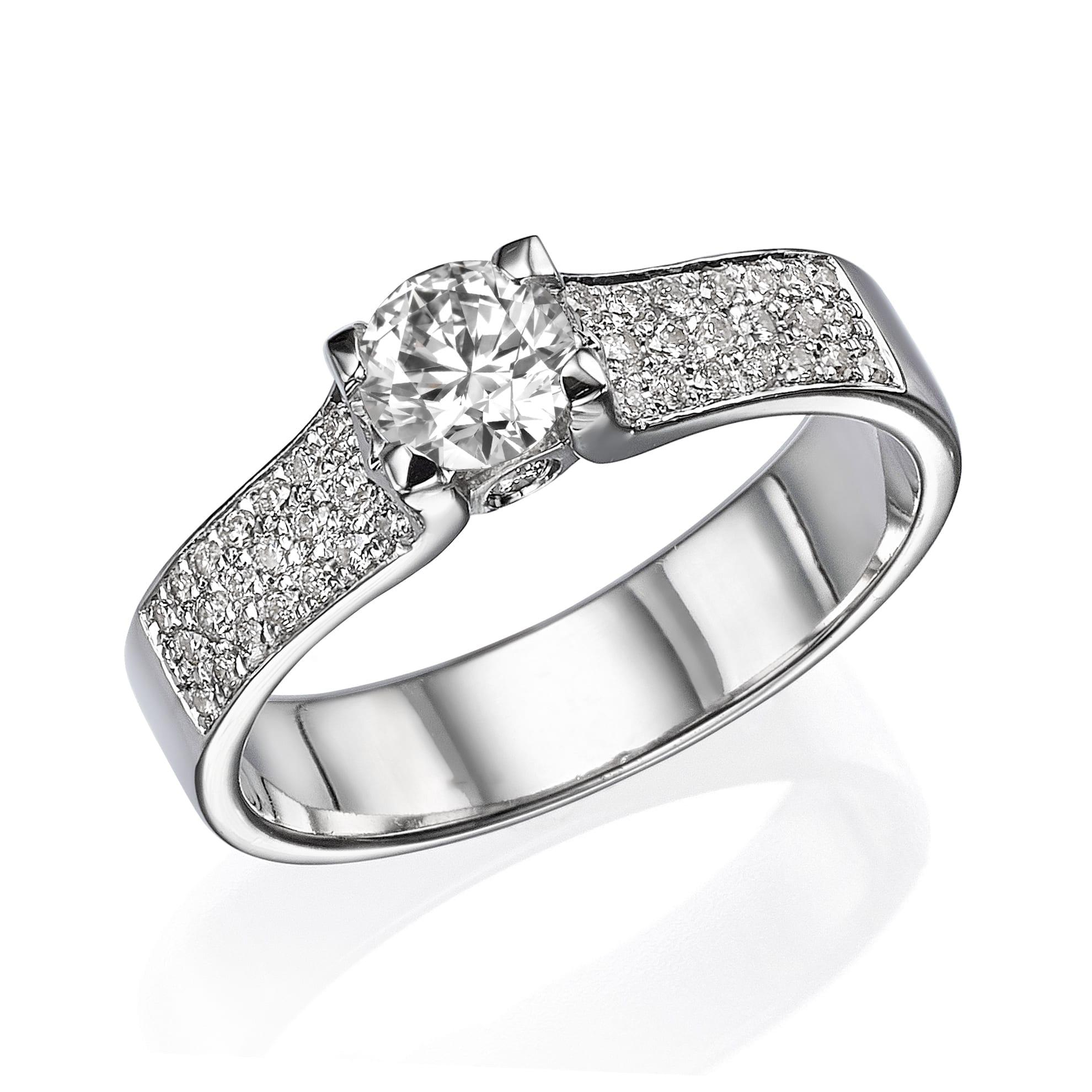 טבעת יהלומים דגם Adele