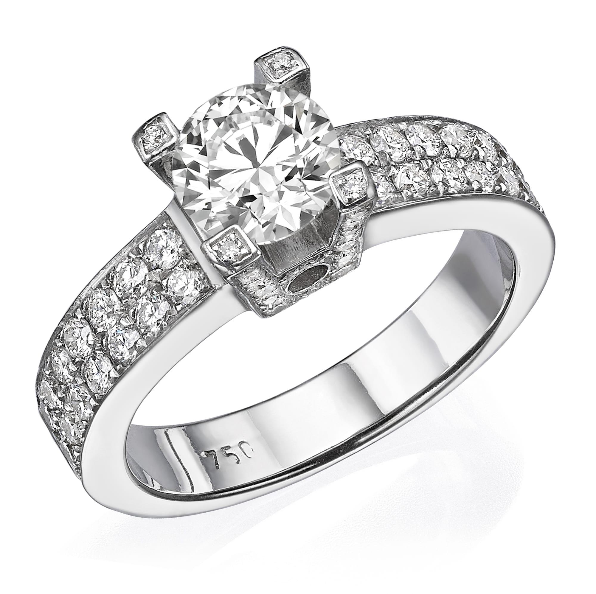 טבעת יהלומים 1.46 קראט!