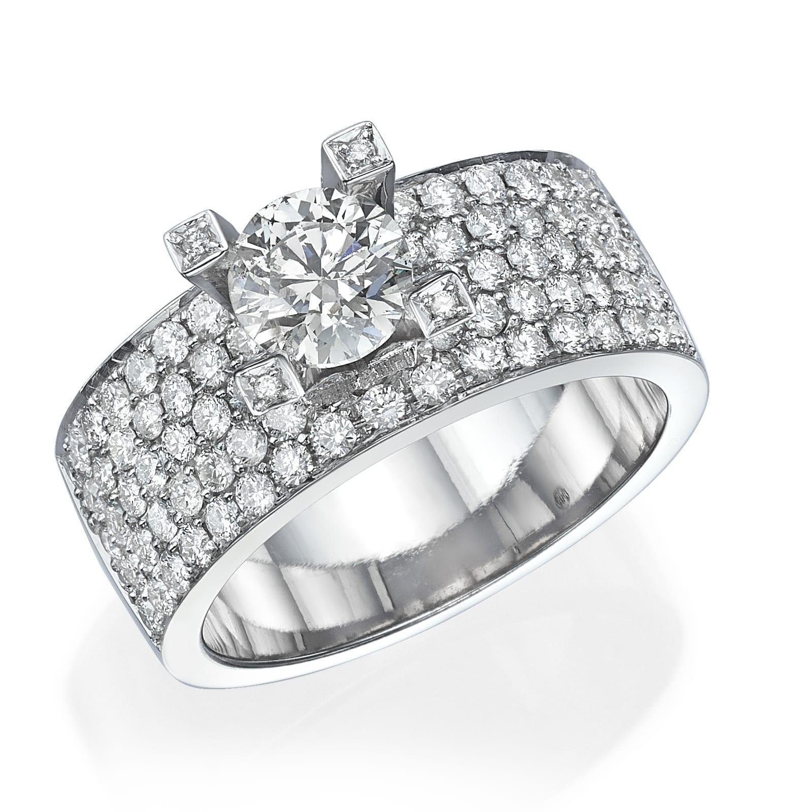 טבעת יהלומים דגם Blake