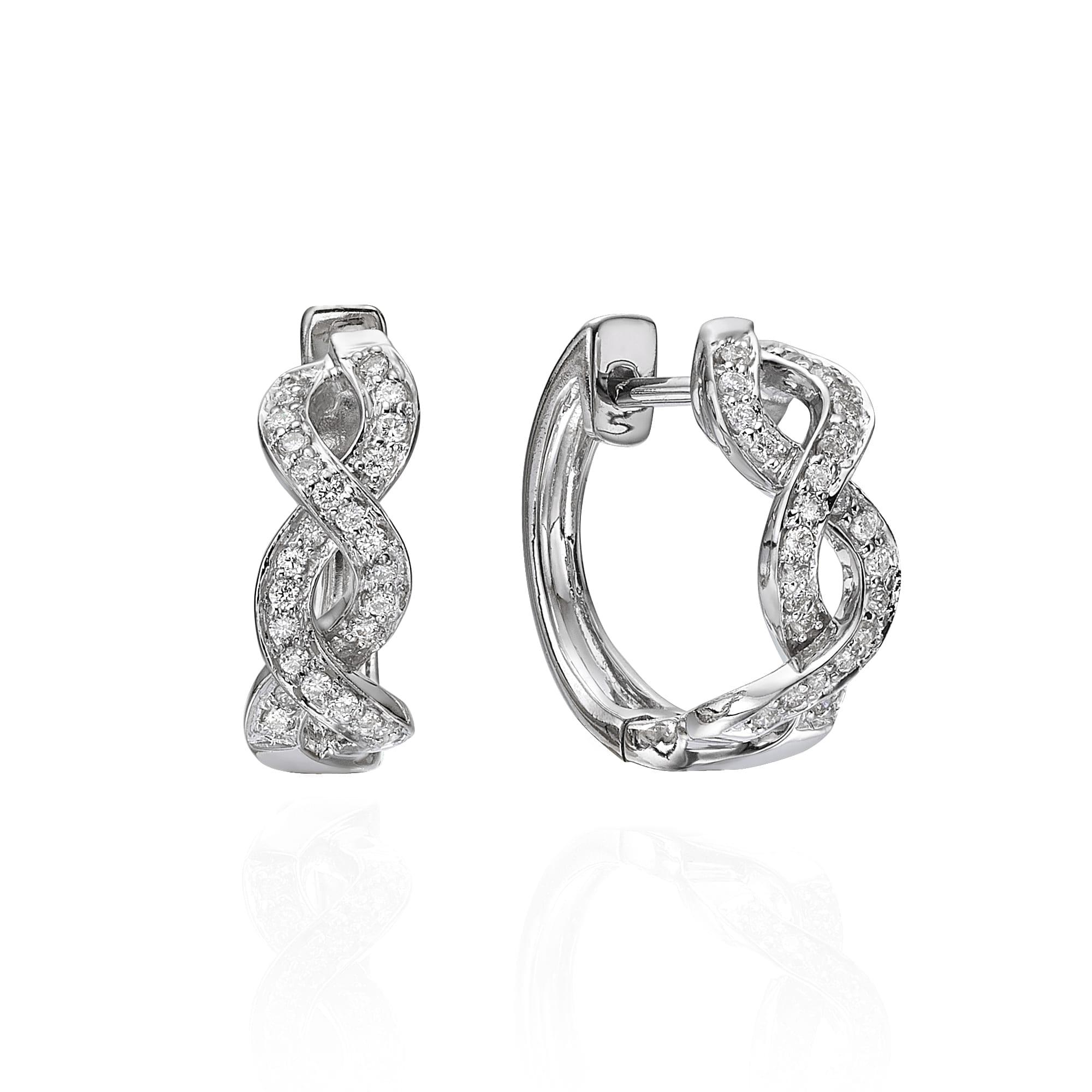 עגילי יהלומים דגם Sierra