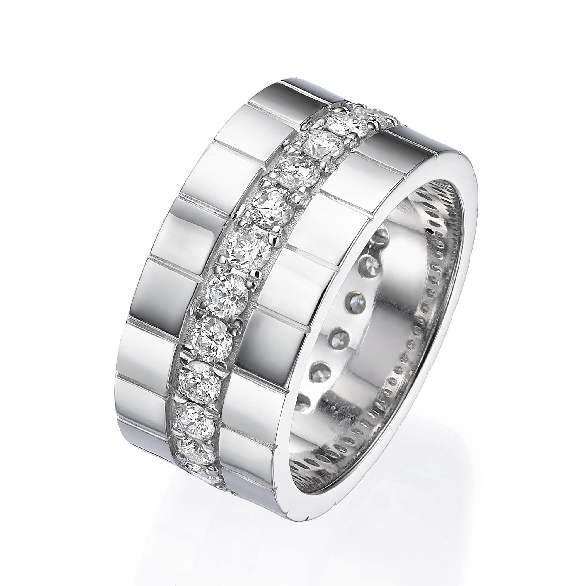 טבעת יהלומים לגבר דגם Leo