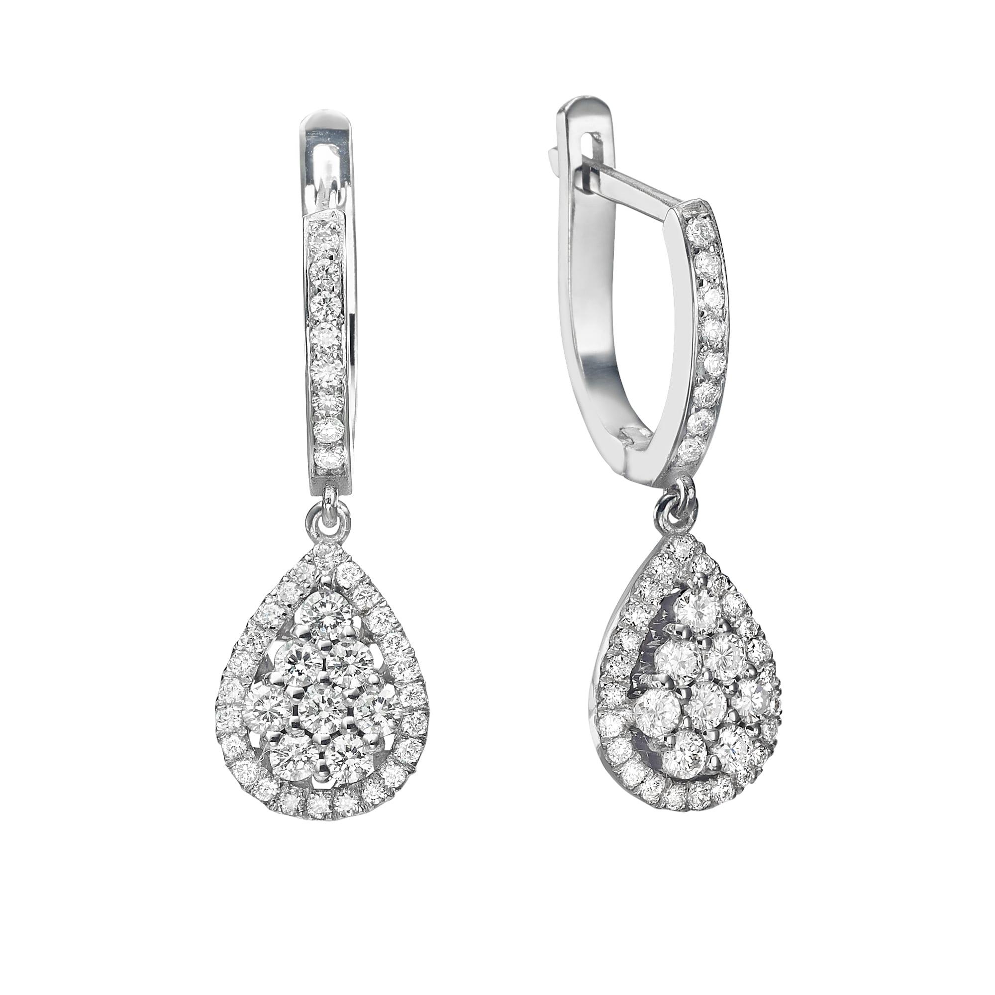 עגילי יהלומים דגם Erica