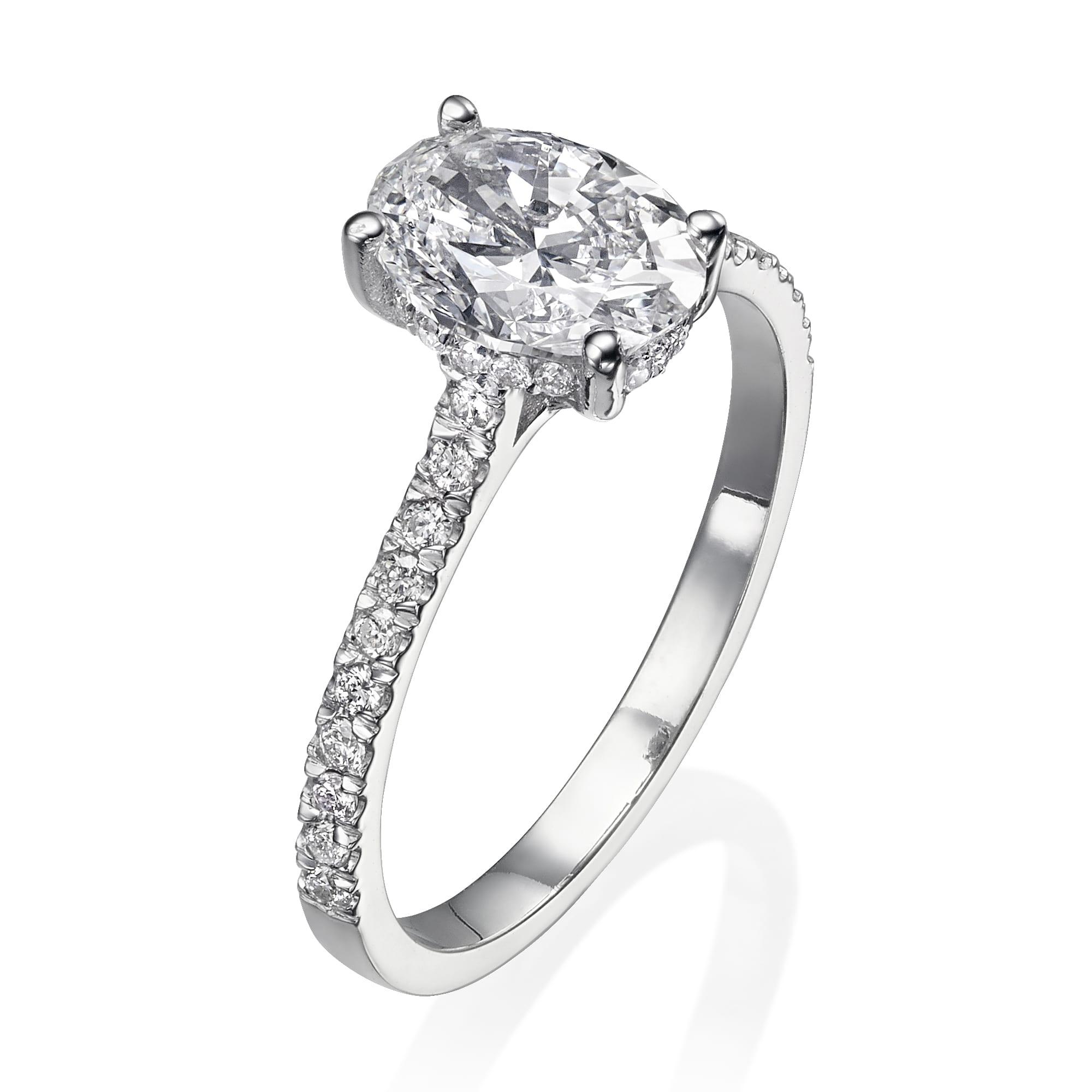 טבעת יהלום אובל דגם Kathrine