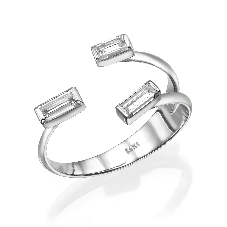 טבעת יהלומים דגם Ella