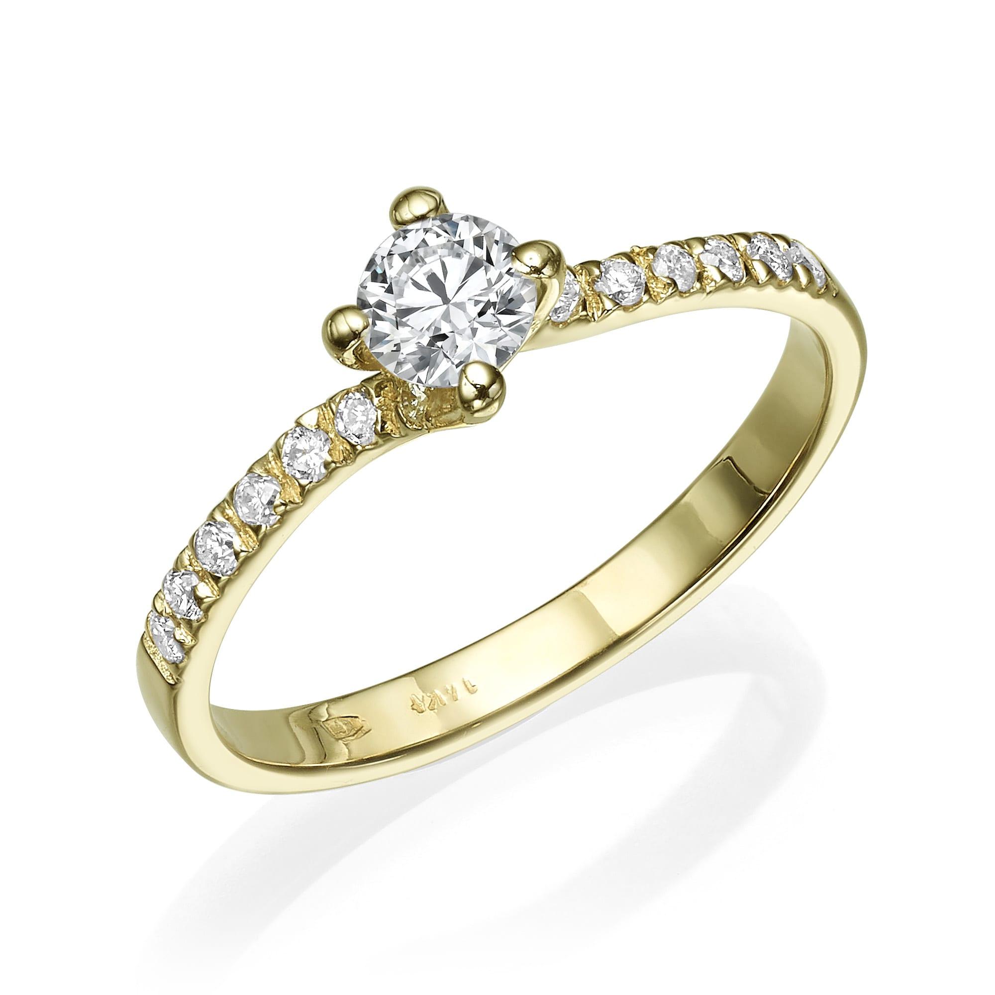 טבעת יהלומים דגם Emily